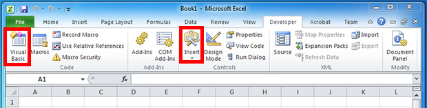 How to enable the Developer Tab in Microsoft Excel 2010