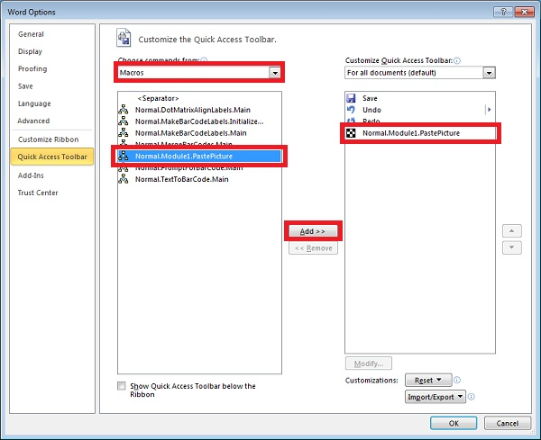 Pasting Windows Metafiles (Barcodes) into Office 2010