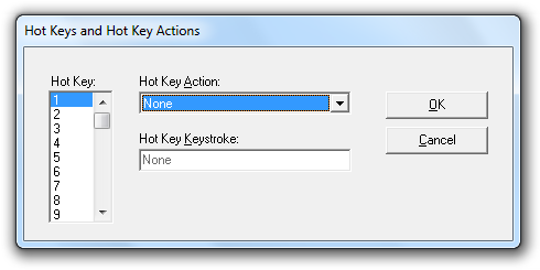 Defining Hot Keys and Actions